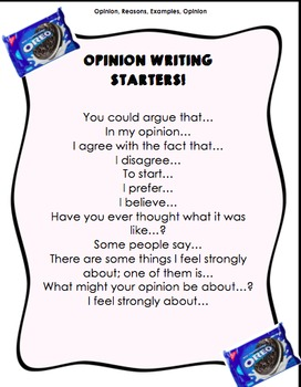 Opinion Writing Starters