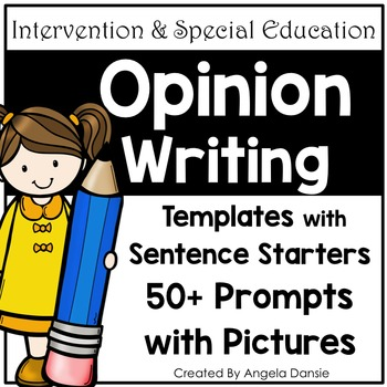 Opinion Writing Templates with Sentence Starters