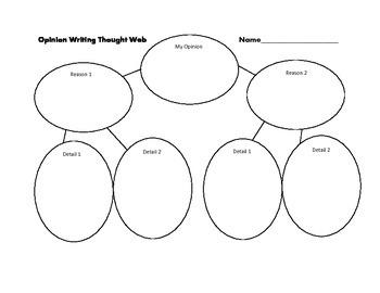 Opinion Writing Thought Web Graphic Organizer