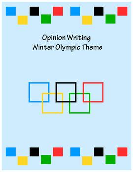 Opinion Writing Winter Olympic Theme