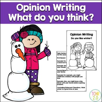 Opinion Writing Prompt Winter January February