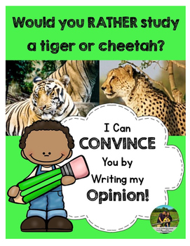 Opinion Writing: Would you rather study a tiger or a cheetah?