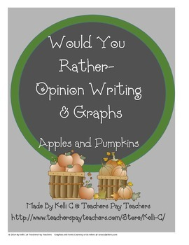 Opinion Writing and Graphs Apples and Pumpkins