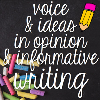Opinion and Informative Writing - Four Lesson Printables U