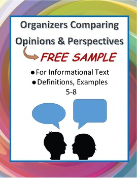 FREE Compare Opinions Organizers for Election, Fiction or