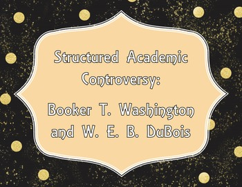 Opposing Viewpoints: Washington and DuBois Structured Acad