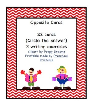 Opposite Cards Printable