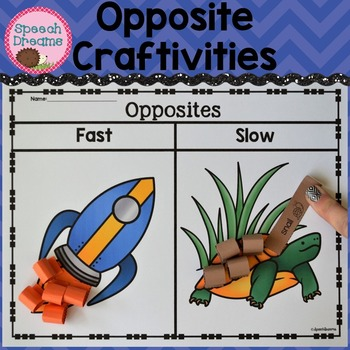 Opposite Crafts Language {Antonyms Receptive Expressive La