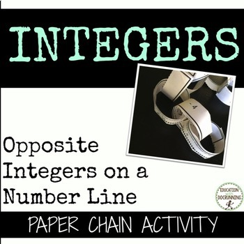 Opposite Integers on a Number Line Paper Chain Activity  (
