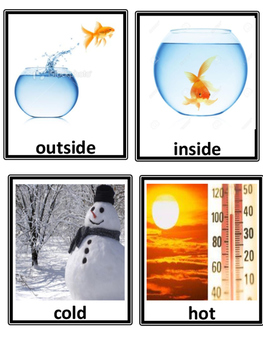 Opposite concept cards