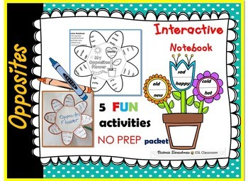 Opposites FUN- Interactive Notebook