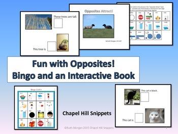 Opposites Fun!  Interactive Book and Bingo Game (Special E