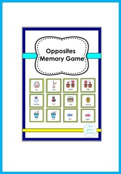 Opposites Memory Game