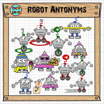 Robot antonyms Clip Art