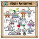 Robot antonyms Clipart