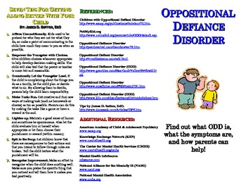 Oppositional Defiance Disorder (ODD) Pamphlet