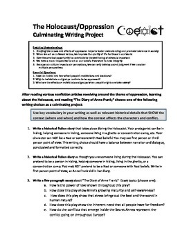 Oppression Writing Project