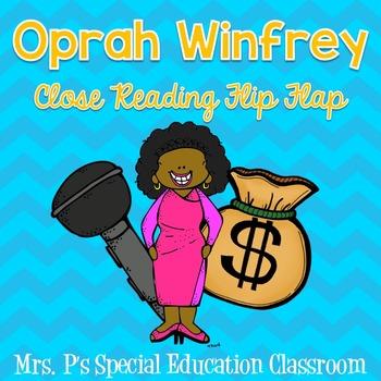 Oprah Winfrey Close Reading Flip Flap