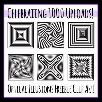 Optical Illusions Free Clip Art - Celebrating 1000 uploads