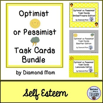 Optimist or Pessimist Task Cards Bundle