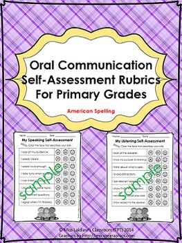 Oral Communication (Speaking/Listening) Self-Assessments {