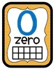 Orange Blue & Yellow Number Charts Posters~Numerals, Numbe