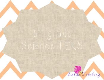 Orange Chevron 6th grade Science TEKS