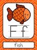 Orange Chevron ABC Posters