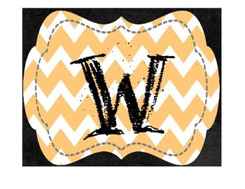 "Orange Chevron ""welcome to"" Sign"