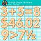 Crayon Texture Numbers Clip Art {ORANGE} - Clip Art Number
