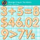 Orange Math Numbers Clip Art {Great for Classroom Decor &