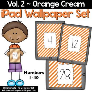 Orange Cream iPad Wallpaper Set