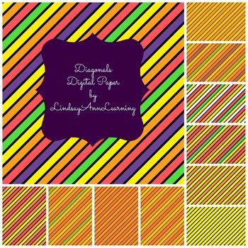 Orange Stripes Digital Papers
