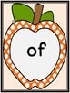 Orange Dot Apple Dolch First Grade Sight Word Flashcards a