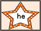 Orange Dot Star  Dolch Primer Sight Word Flashcards and Posters