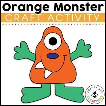 Orange Monster Cut and Paste