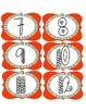 Orange Number Label Set