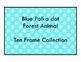 Blue Polka Dot Forest Theme - 10 Ten Frame Set