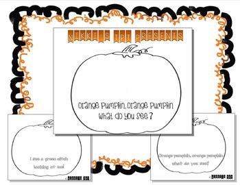 Orange Pumpkin, Orange Pumpkin What Do You See Printable Book