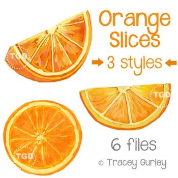 Orange Slices Art - orange slice clip art Printable Tracey