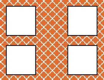 Orange Tile Classroom Tags and Labels