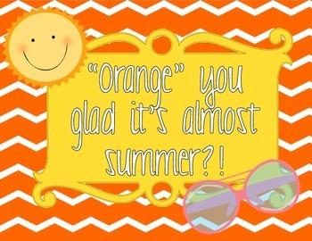 """Orange"" you glad it's summer"