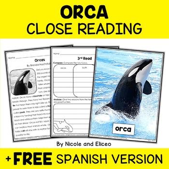 Close Reading Orca Activities
