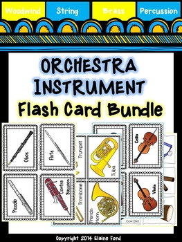 Orchestra Instrument Flash Cards Bundle