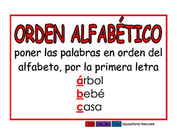 Orden alfabetico rojo