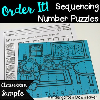 Order It! Classroom Sequencing Number Puzzles FREEBIE {Eng
