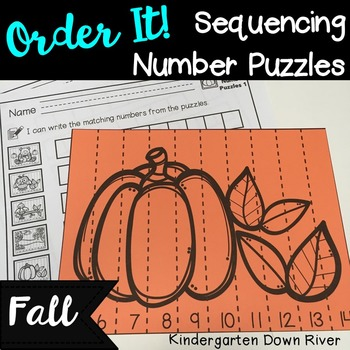 Order It! Fall Sequencing Number Puzzles- Counting Forward