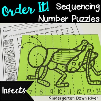 Order It! Insects Sequencing Number Puzzles- Count Forward