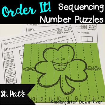 Order It! St. Patrick's Sequencing Number Puzzles- Backwar