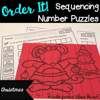 Order It! Christmas Sequencing Number Puzzles- Count Forwa